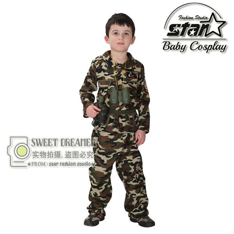 Children's Camouflage Costume