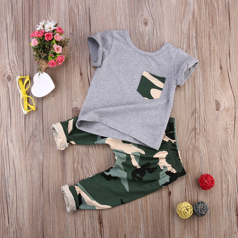Children's summer 2pc camouflage set
