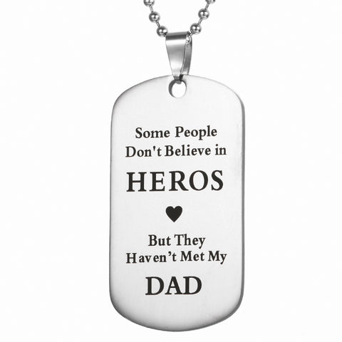 Military Stainless Steel Dog Tag