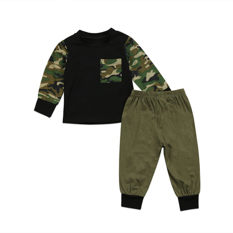0-3T Baby Boys Girls Army Green Clothes