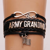 Infinity Love Army Mom/Wife/Grandma/Aunt/Uncle/Sister/Girlfriend Bracelet