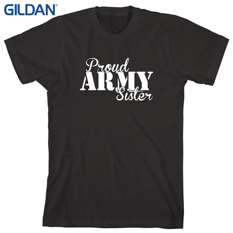 Proud Army Sister 100% Cotton T Shirts