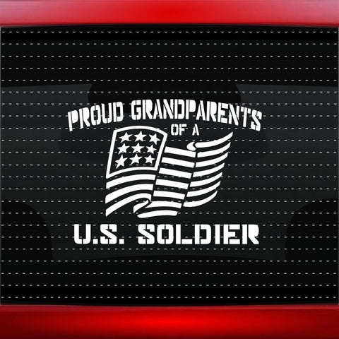 Proud Army Grandparents Vinyl Car Decal