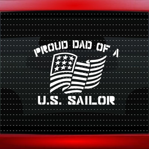 Proud Navy Dad Vinyl Car Decal