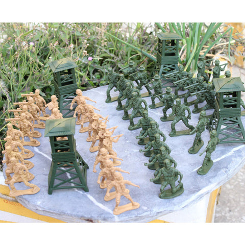122 Pcs/set Soldier Military Aircraft Tanks Model Scene