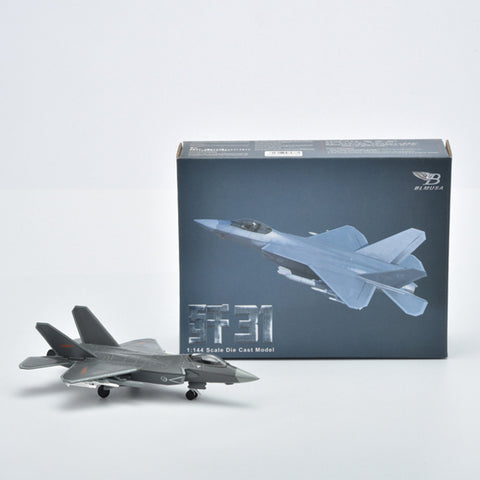 1/144 J31 Mini Stealth Fighter Aircraft Alloy Military Aircraft Toy