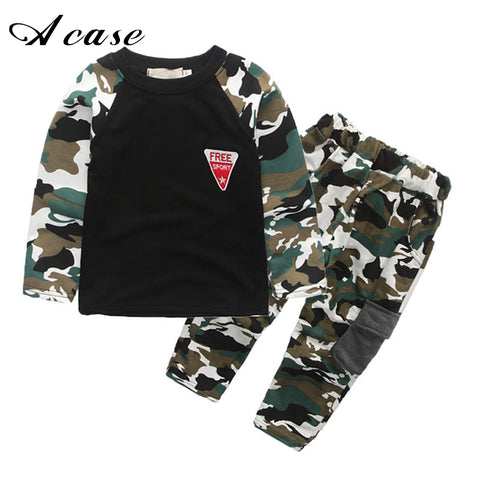 Children's Camo Shirt and pants Set