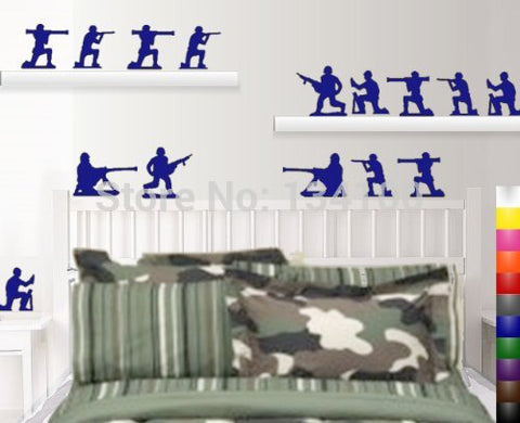 Army Men Removable Wall Decals 15-Pack
