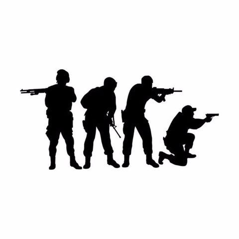 Army Shooting Team Light Switch Vinyl Wall Decal