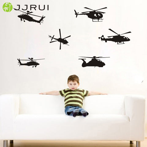 Military Vinyl Helicopter Wall Decal