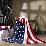 2017 New British Style Super Soft Coral Fleece Blankets Mantas Adulto Para Cama British United States Flag Flannel Throw 150x200