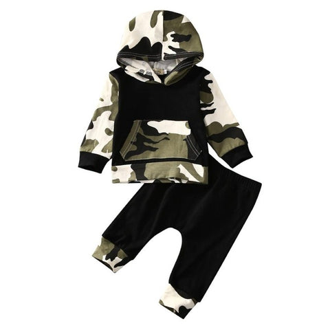 Camouflage hooded Set Baby Boy Clothing Sets Toddler Baby Boy Kids Clothes Set Camouflage Hoodies Top + Pants Infant 2PC Suit