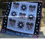 America the Beautiful Country style 100% Cotton Sofa Throw with Tassels