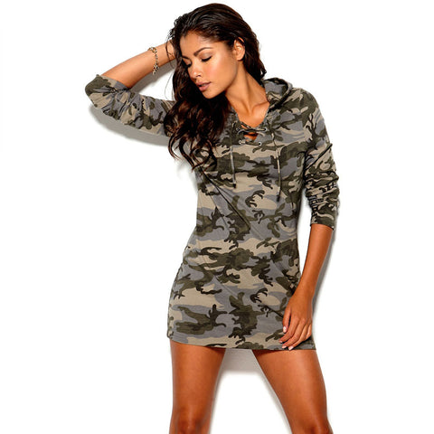 2015 New women fashion dress Camouflage print dress simple and sexy mini dress XS S M L XL XXL Y0306-109C