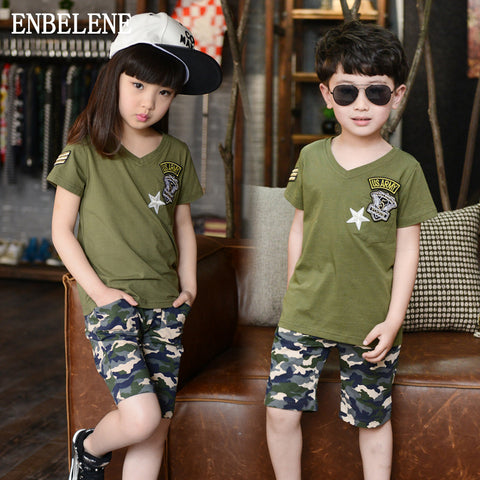 Children's Camo Short Set