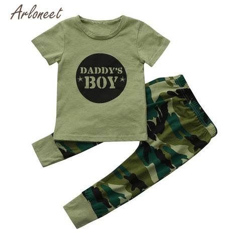 Boys Camouflage Set Clothing