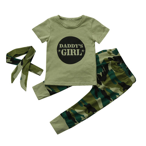 Girls Camouflage Set Clothing