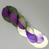 Orchid - Hand dyed yarn - Hand painted yarn - SW Merino Fingering Weight  400+ yards - Select your base - purple green moss flower