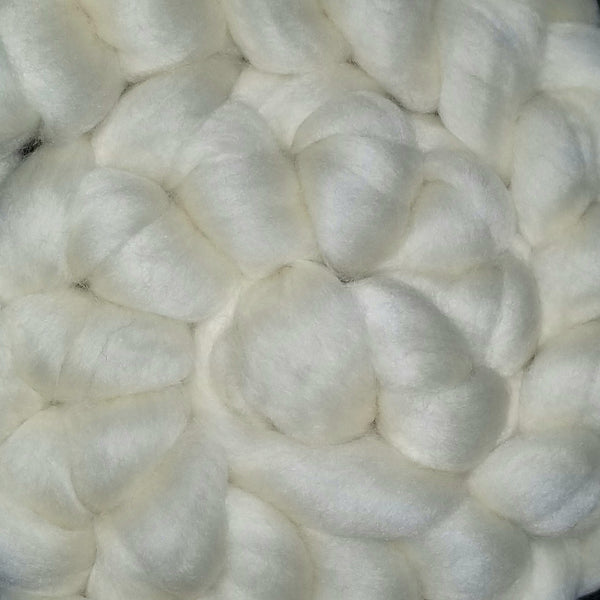 Romney Wool combed top - white undyed 4oz