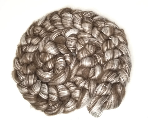 Tibetan Yak Silk Blend -100g Combed Top for spinning and felting