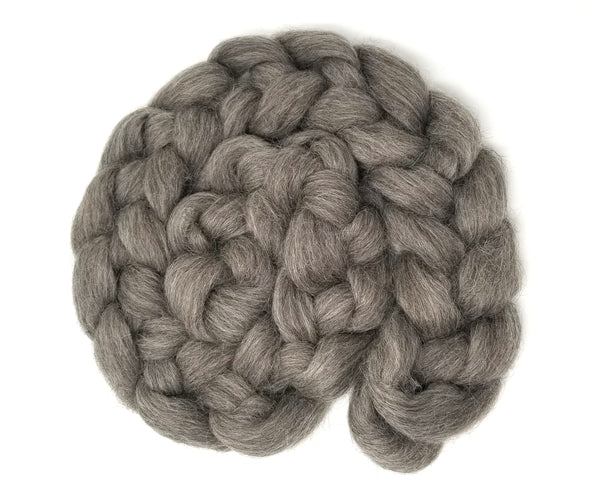 Grey Icelandic Wool combed top - undyed 3.5oz