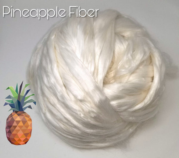 Pineapple Fiber 100g  - undyed white vegan spinning fiber felting undyed combed top
