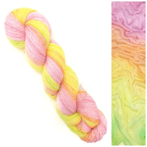 GRADIENT - Candy Shop - Hand dyed yarn pastel pink orange yellow green