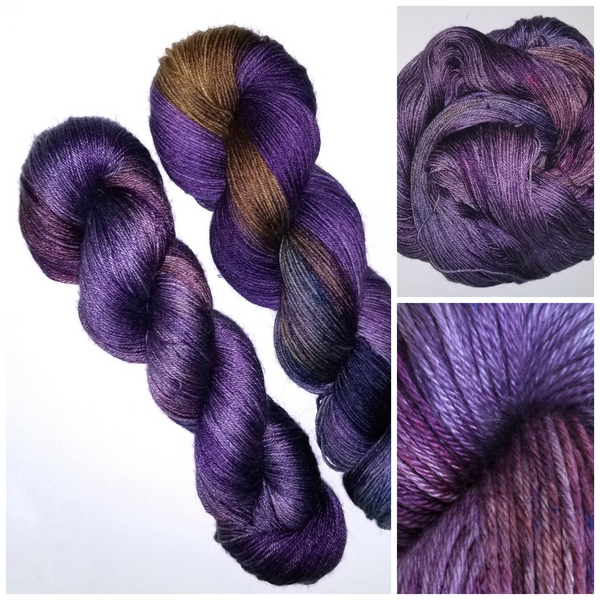 Mirabelle - Hand dyed yarn - choose your base: lace fingering dk worsted