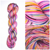 Surfer Chick - Hand dyed yarn - SW Merino lace to bulky pink rainbow