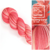 Living Coral - Hand dyed variegated yarn - SW Merino Fingering to worsted