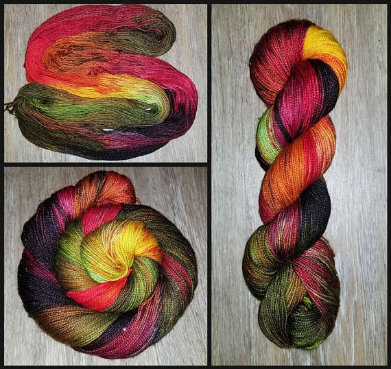 Fall Harvest-  Hand dyed yarn - SW Merino Fingering Weight 400+ yards autumn colors