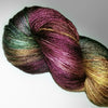 Forest Creek- Hand dyed yarn - SW Merino Fingering 400+ yards green burgundy