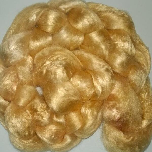 Pearl Infused Rose fiber- Eco Friendly- Nano Pearl Dust - Caramel