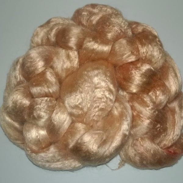 Pearl Infused Rose fiber- Eco Friendly- Nano Pearl Dust - Palomino