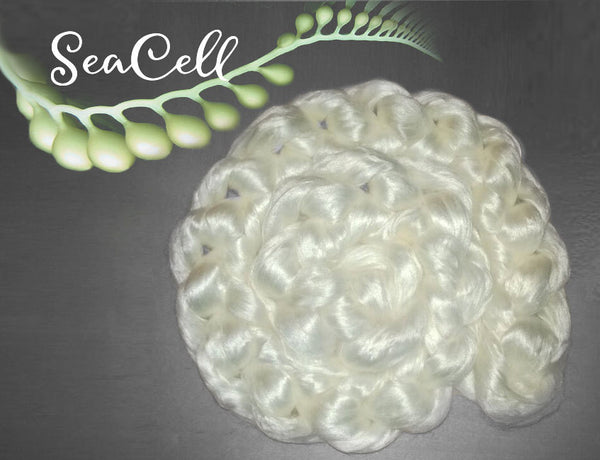 SeaCell fiber - made from seaweed spinning felting fiber