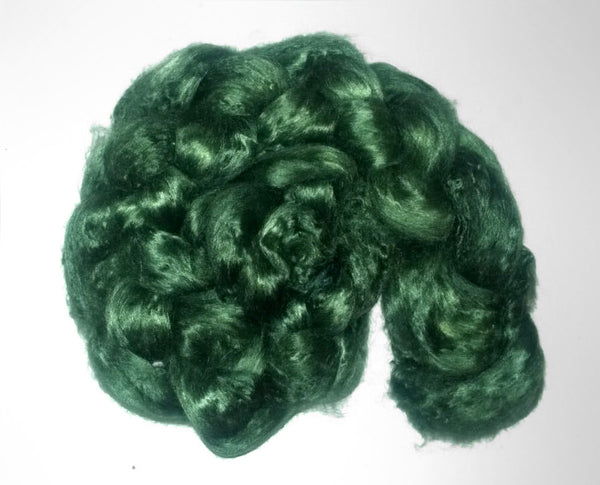Pearl Infused Rose fiber- Eco Friendly- Nano Pearl Dust - Forest Green