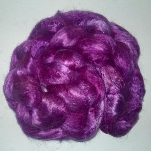 Pearl Infused Rose fiber- Eco Friendly- Nano Pearl Dust - Red Violet