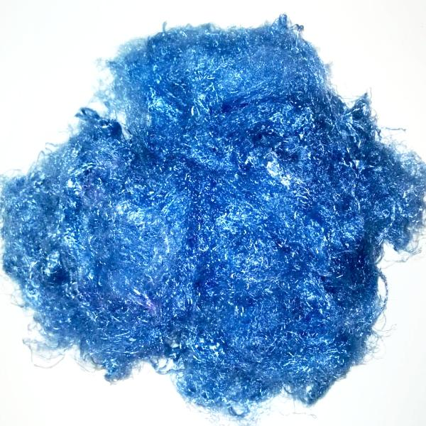 Banana Silk Fiber - Bright Periwinkle - vegan eco friendly loose textured spinning fiber felting papermaking doll hair crafts
