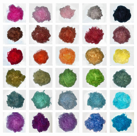 Banana Silk Fiber - Select your color   - vegan eco friendly loose textured spinning fiber felting papermaking doll hair crafts