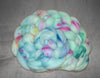Hand Painted Speckle Dyed Combed top 4oz - Tidepool - Superwash or regular Merino - aqua pastel blue sky blue pink yellow spinning felting