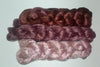 Pearl Infused Rose fiber- Eco Friendly- Nano Pearl Dust - Truffle gradient