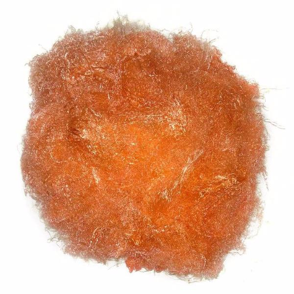 Banana Silk Fiber - Clementine Orange - vegan eco friendly loose textured spinning fiber felting papermaking doll hair crafts