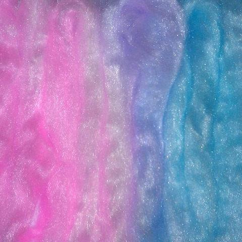 Firestar Hand painted Roving Baby Blue Pink