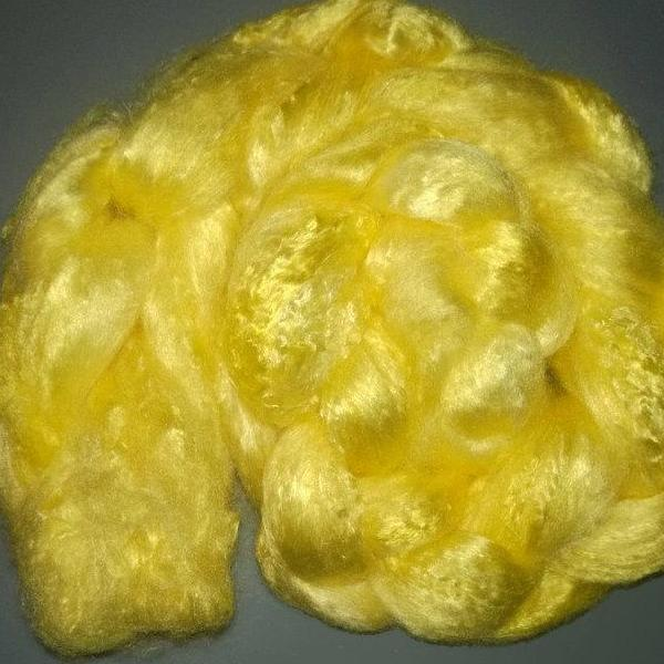 Pearl Infused Rose fiber- Eco Friendly- Nano Pearl Dust - Bright Lemon