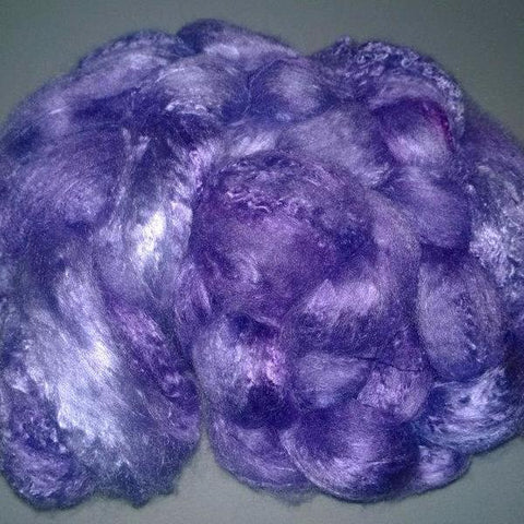 Pearl Infused Rose fiber- Eco Friendly- Nano Pearl Dust - Grape