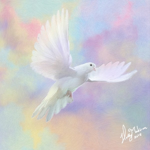 Art Print -High Quality- Oil Pastel and Oil painting- Fly me to Heaven- choose your size