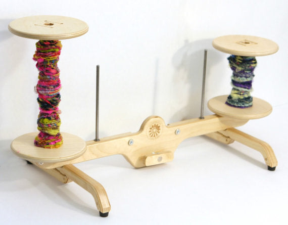 Lazy Kate SpinOlution - use as stand alone floor lazy kate or attach to Mach III Echo Firefly or Hopper- tool for plying - bobbin holder
