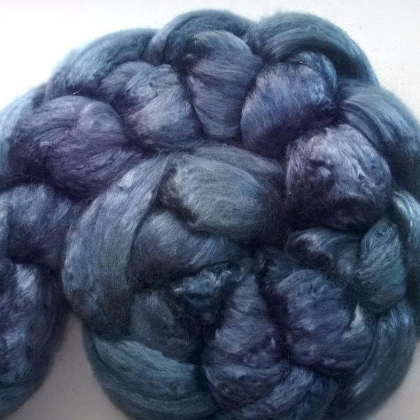 Pearl Infused Rose fiber- Eco Friendly- Nano Pearl Dust -Galena Grey