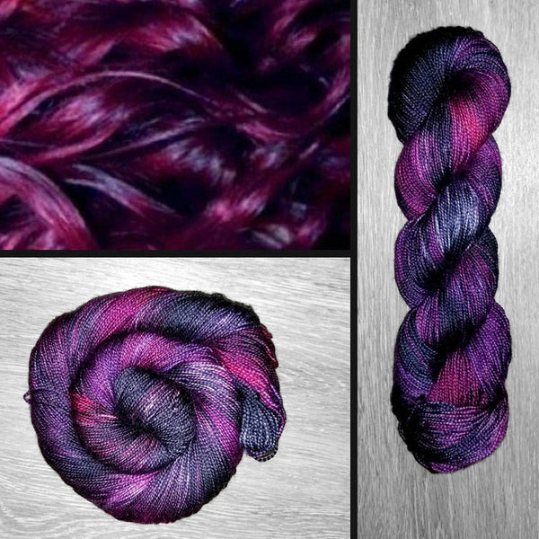 Plum Perfect- Hand dyed yarn - Hand painted yarn - SW Merino Fingering Weight  400+ yards - Select your base - red cabernet purple black cherry