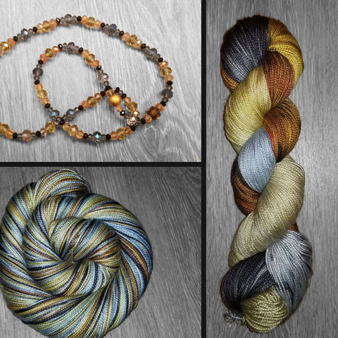 Unconditional - Hand dyed yarn - Hand painted yarn - SW Merino Fingering Weight  400+ yards - Select your base - Caramel green blue black